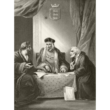 King Henry Vii Of England With Sir Richard Empson And Edmund Dudley Two Of His Councillors Of The Council Learned In The Law From The National And Domestic History Of England By William Aubrey