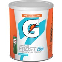 Gatorade Thirst Quencher Powder, Frost Glacier Freeze, 51 oz Canister, 63 Servings