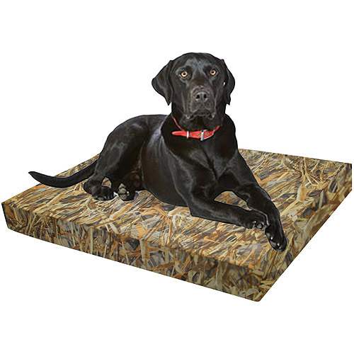 """Springs Creative True Timber Flooded Timber Dog Bed, 24""""L x 36""""W x 4""""H, Brown"""