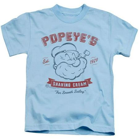 Trevco Sportswear PYE781-KT-2 Popeye & Popeyes Shaving Cream-Short Sleeve Juvenile 18-1 T-Shirt, Light Blue - Medium 5-6 - image 1 de 1