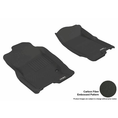3D MAXpider 2006-2010 Ford Explorer Front Row All Weather Floor Liners in Black with Carbon Fiber Look - Ford Explorer Suv Carpet