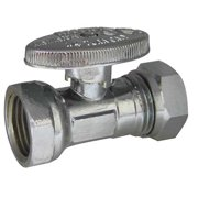 KISSLER & CO AB88-9040 Water Supply Stop, Straight Valve, Chrome