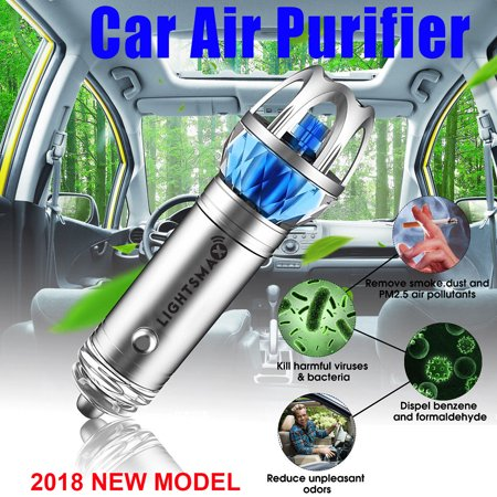 LIGHTSMAX Car Air Purifier, Car Air Freshener and Ionic Air Purifier | Remove Dust, Pollen, Smoke and Bad Odors - Available for Your Auto or RV