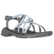 Womens Jambu Mykonos Strappy Outdoor Sandals - Light Grey/Stone Blue