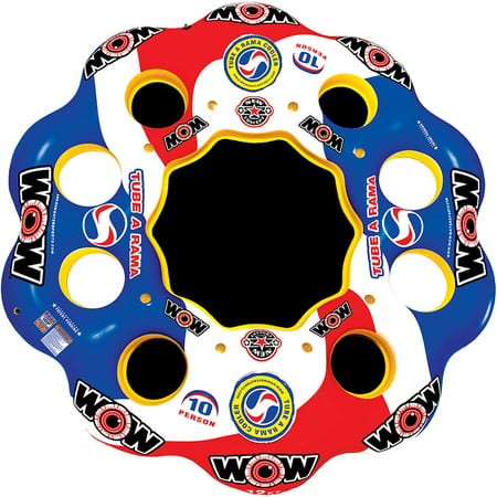 WOW World of Watersports, 13-2060 Tube A Rama, 10 Person Inflatable Floating Island, 12 Foot Diameter - 12 Foot