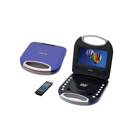 Craig 7 Inch TFT Screen Portable DVD/CD Player -