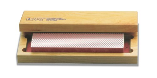 DMT W8F 8-Inch Diamond Whetstone Sharpener, Fine with Hardwood Box Multi-Colored by DMT