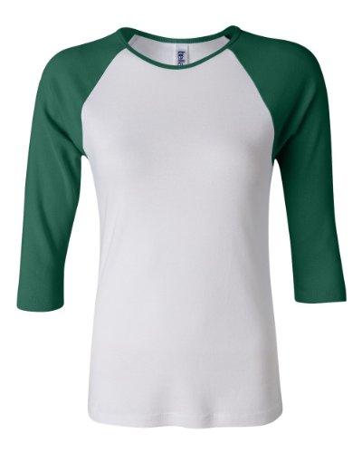 Bella + Canvas Ladies Baby Rib 3/4-Sleeve Contrast Raglan T-Shirt - image 1 of 1