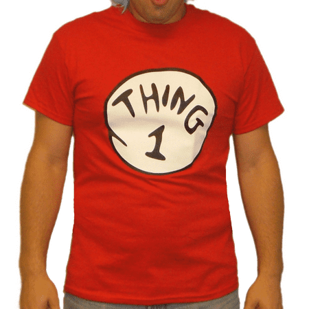 Thing 1 T-Shirt Costume Movie Book Adult Womens Kids Red Couple Twins Shirt Gift