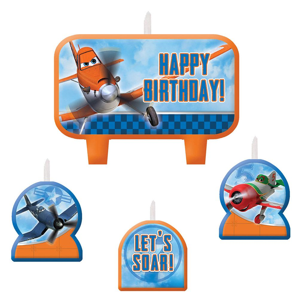 Disney Planes Birthday Candle Set (4 Pack) - Party Supplies