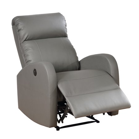 Sean Modern Leather Infused Small Power Reading Recliner, - Small Leather Recliners