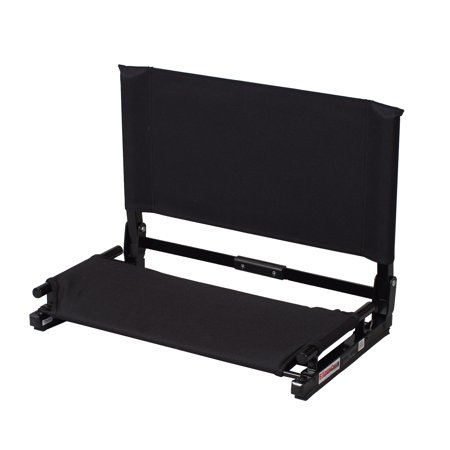 Polyester Folding Stadium Chair - Stadium Chair WSC2 Deluxe Game Changer Portable Folding Bleacher Seat, Black