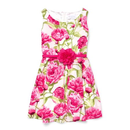 Allover Floral Print Easter Dress (Little Girls & Big Girls) (Easter Girls Dresses)