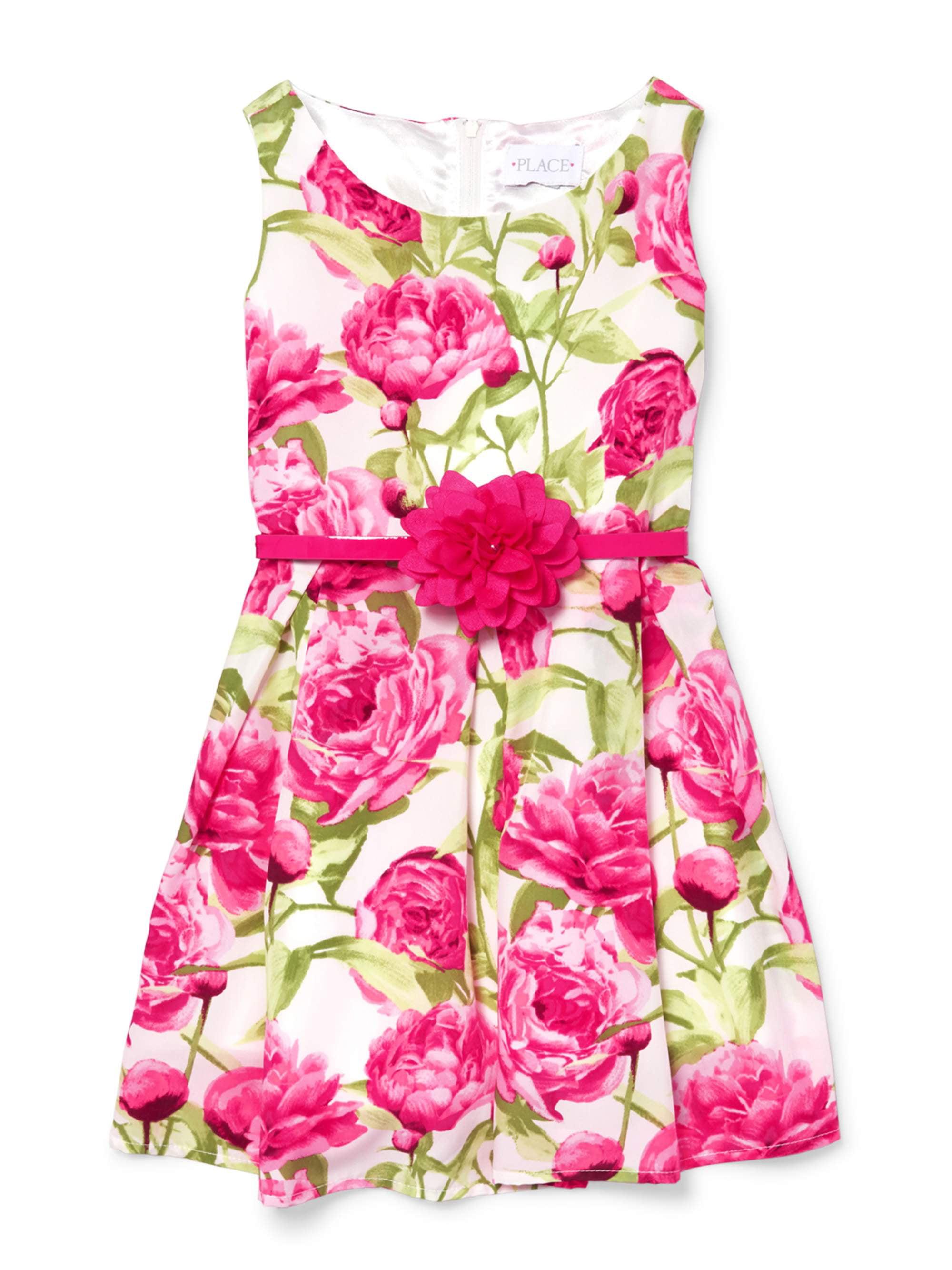 Allover Floral Print Easter Dress (Little Girls & Big Girls)