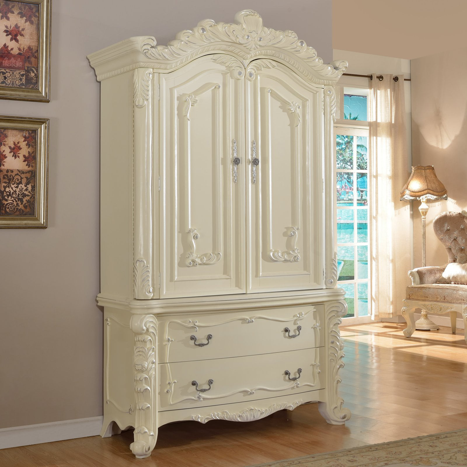 Meridian Novara Armoire by Meridian Furniture USA