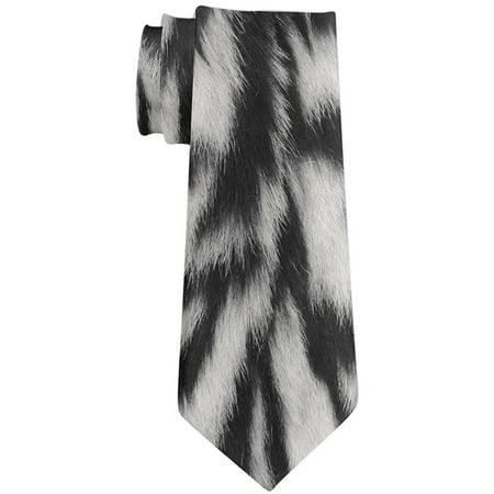 Halloween Siberian Tiger Stripes Fur All Over Neck Tie (Halloween Slashed Neck)