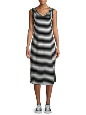 Time and Tru Womens Sleeveless Knit Midi Dress