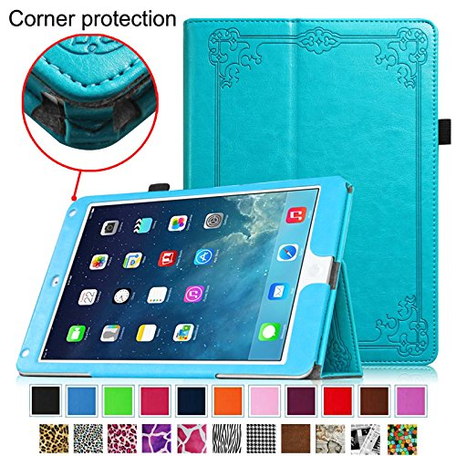 iPad Air 2 Case [Corner Protection] - Fintie Slim Fit Leather Folio Case with Auto Sleep / Wake, Vintage Winter Ice