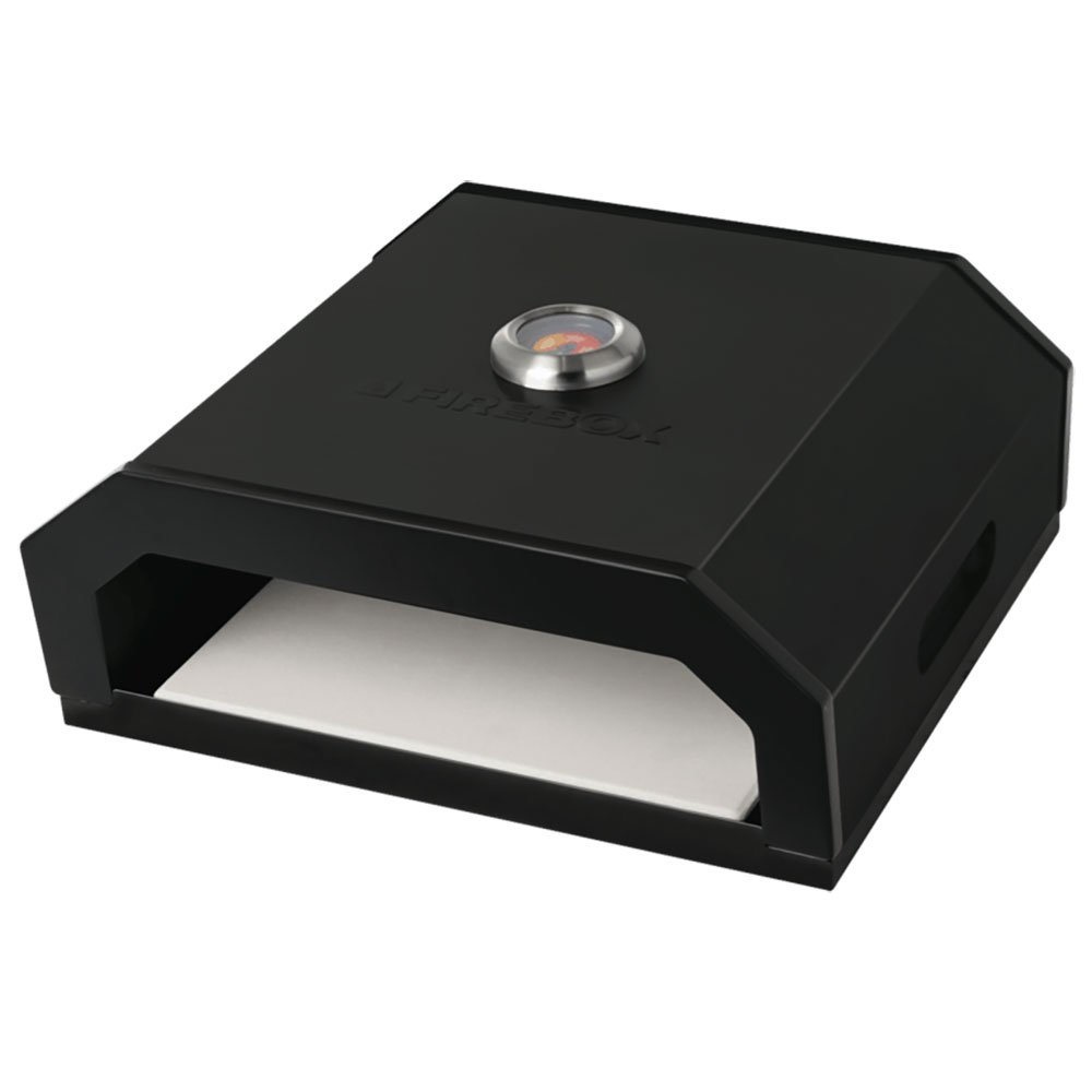 Bull Outdoor Products Portable Durable Fire Box BBQ Pizza Oven, Black Enamel