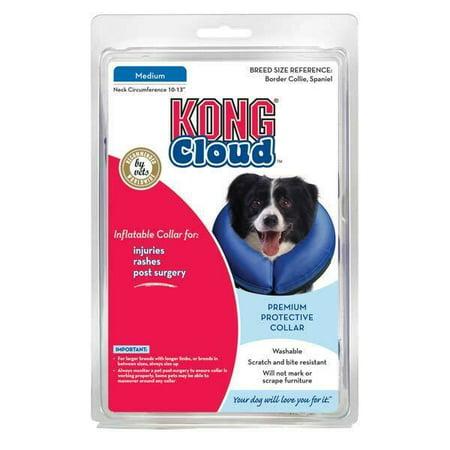 Inflatable Cloud Dog Recovery Pet Collars Blue Safety Elizabethan Alternative (Medium) (Dog Cloth Collar)