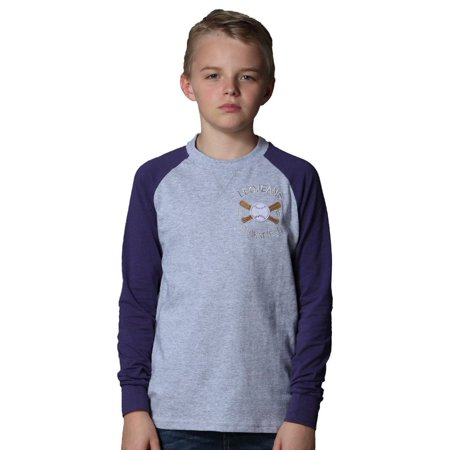 Leo&Lily Little boys Long Sleeve Contrast Color Pullover Baseball T-Shirt Boys Long Sleeve Pullover