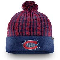 Montreal Canadiens Fanatics Branded Women's Iconic Ace Cuffed Knit Hat with Pom - Navy - OSFA