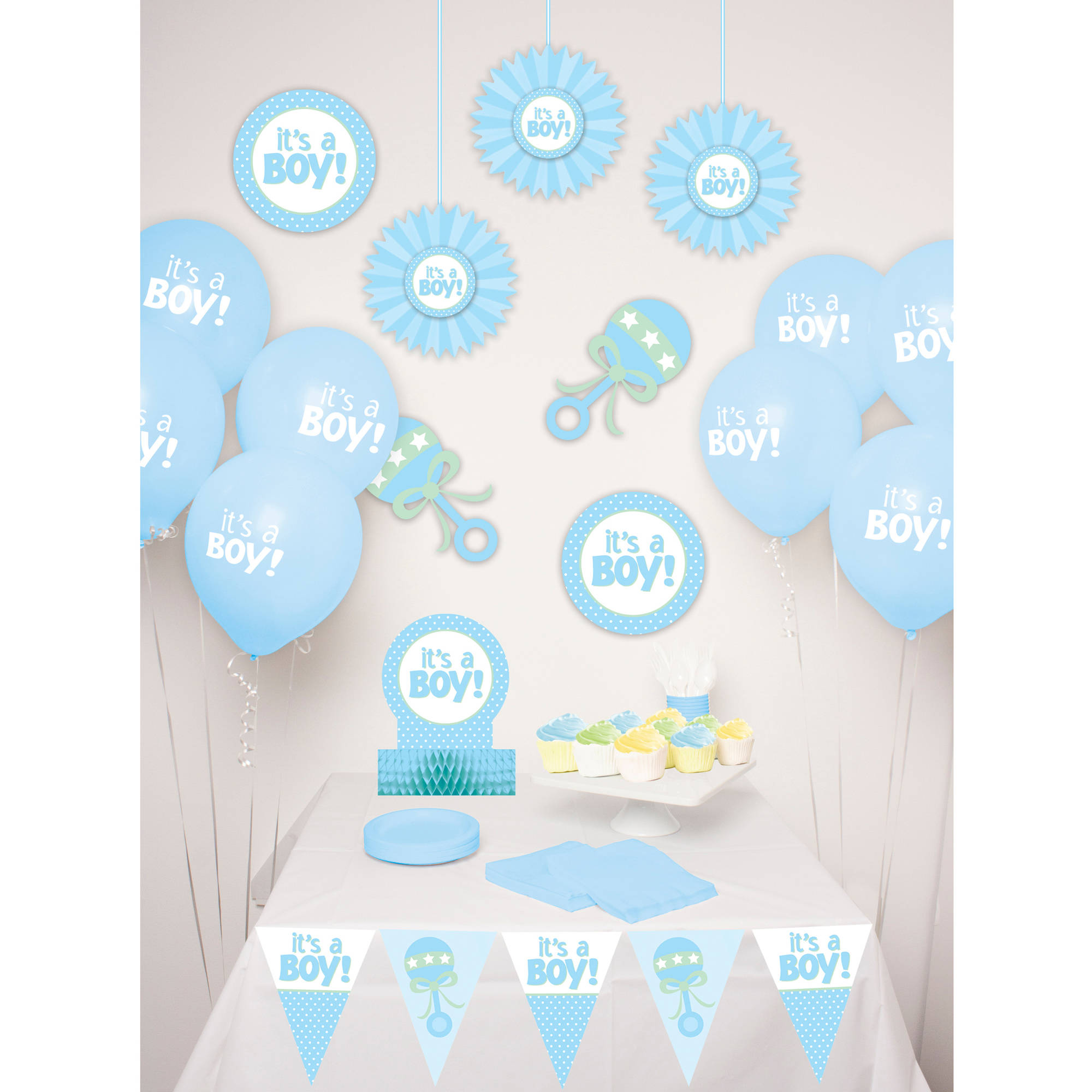 Way to Celebrate Baby Boy Decor Kit