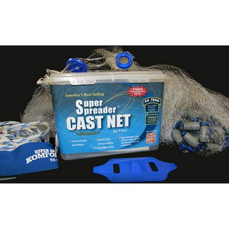 Fitec ss1000 super spreader 7 39 x 3 8 cast net for Fishing net walmart