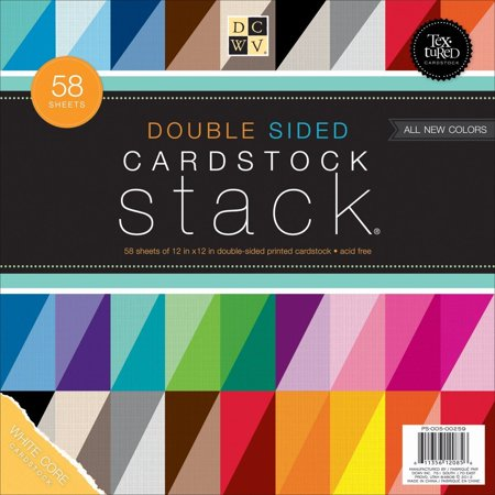 DCWV Double Sided Cardstock Stack, Textured, 58 Sheets, 12 x 12 inches, Always archival safe and acid free to protect your projects and pictures well.., By Die Cuts With a View