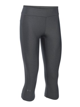 e2bf1876f25d85 Product Image Women's UA HeatGear Armour Capri - Carbon Heather/Carbon  Heather/Metallic Silver, MD. Product TitleUnder ...