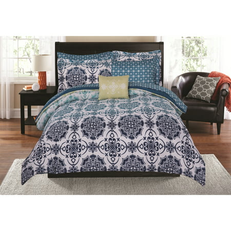 Mainstays Tonal Medallion Bed in a Bag Coordinating Bedding Set