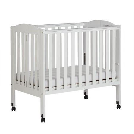 Dream On Me 2-in-1 Folding Portable Crib White