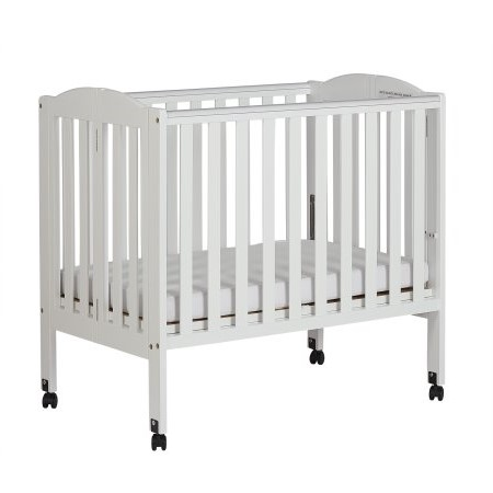 Dream On Me 2 In 1 Folding Portable Crib White