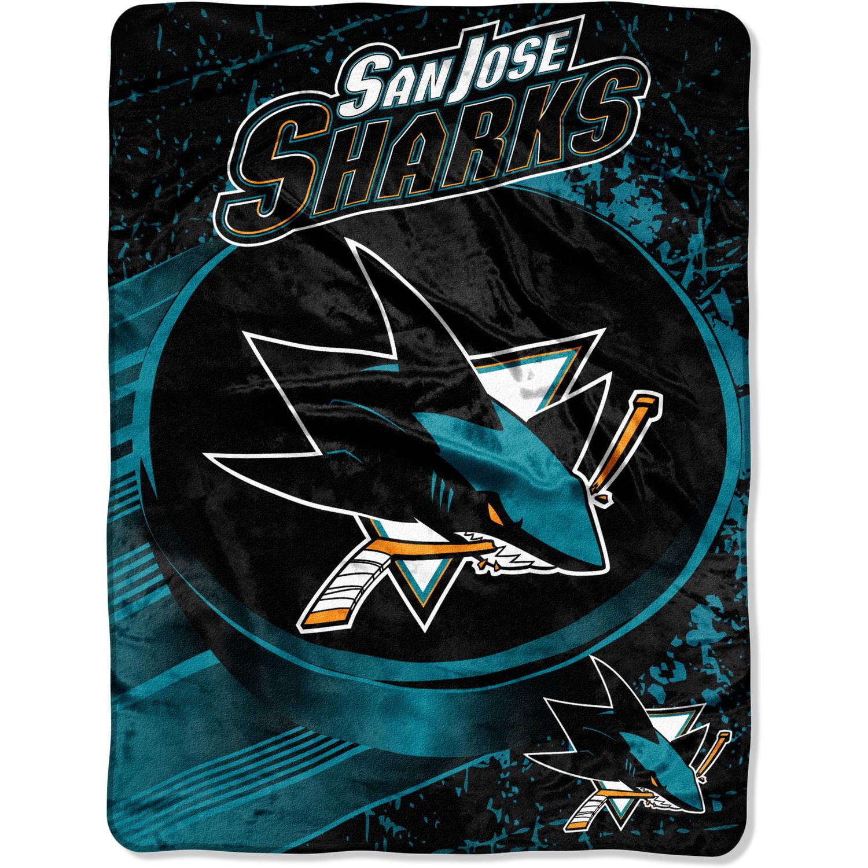 "NHL San Jose Sharks ""Ice Dash"" 46"" x 60"" Micro Raschel Throw"