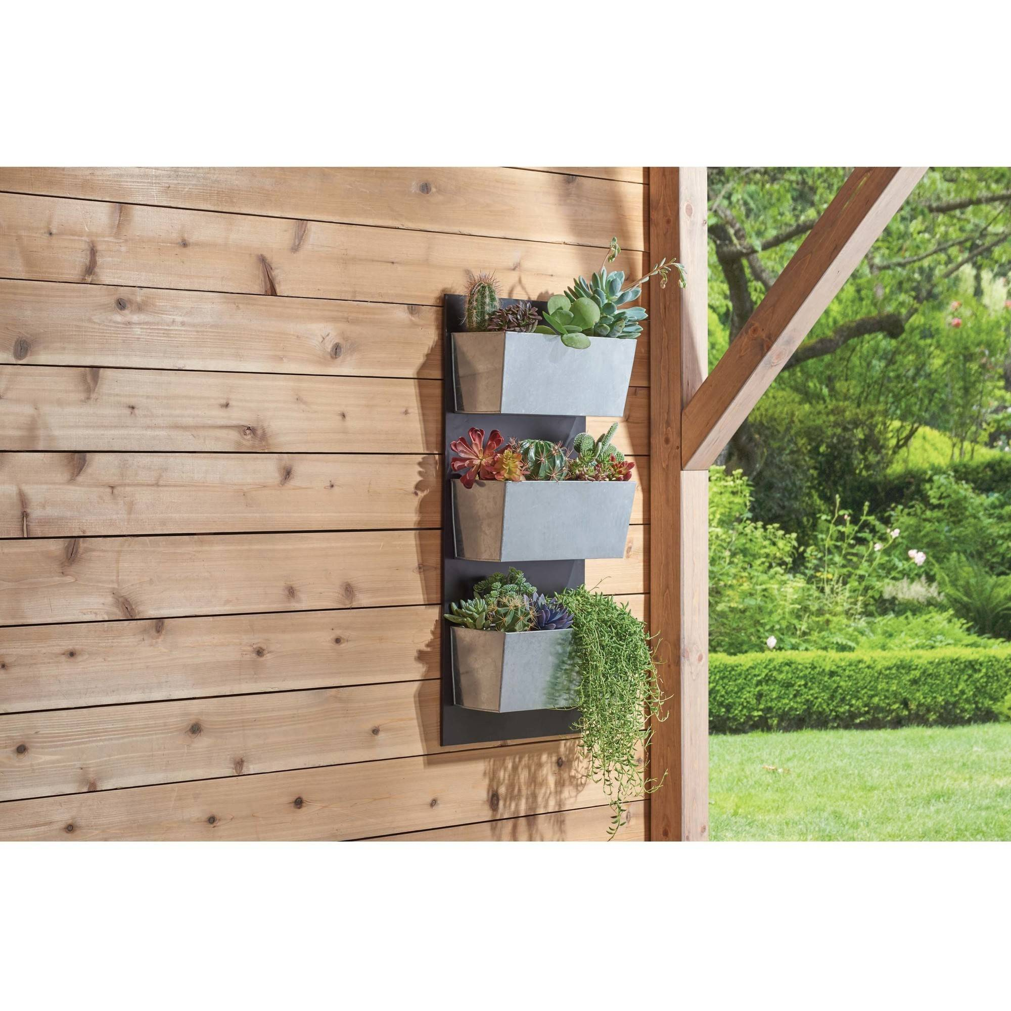 Galvanized-Finish Vertical Planter Grid by DEWAN AND SONS