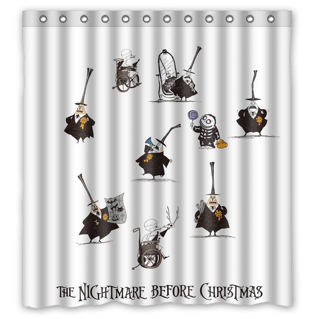 DEYOU The Nightmare Before Christmas Jack Skellington Shower Curtain ...
