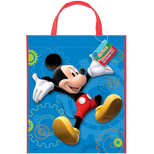 "Large Plastic Mickey Mouse Favor Bag, 13"" x 11"""
