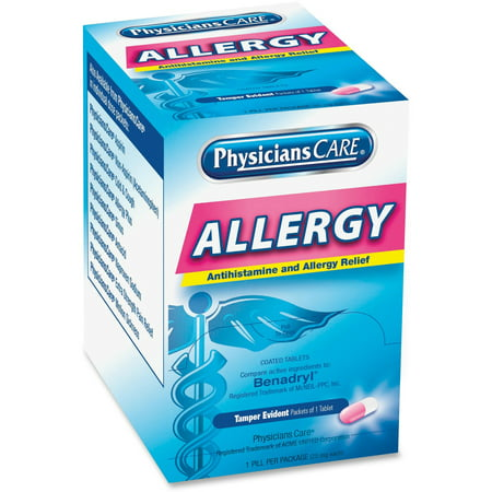 PhysiciansCare, ACM90036, Allergy Relief Tablets, 50 / Box