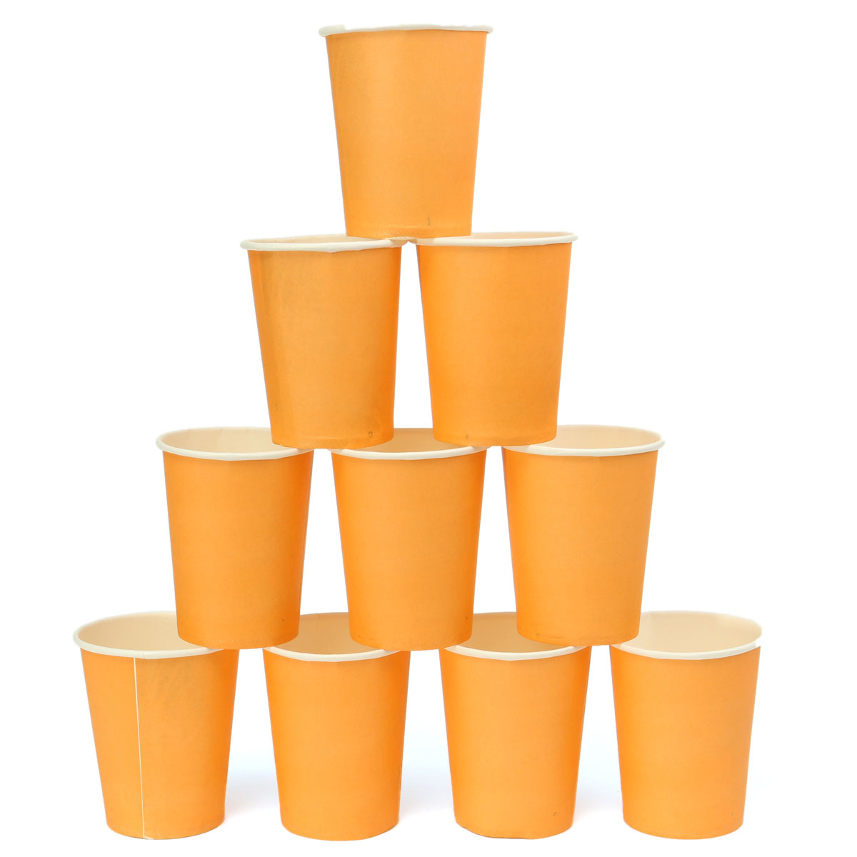 10Pcs Disposable Paper Cups Solid Party Events Catering Food Tableware Drink School Season Discount