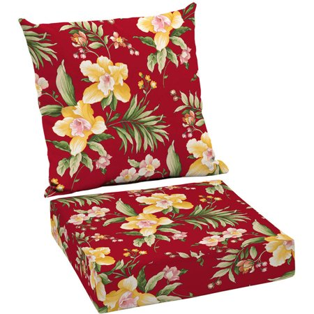 Mainstays Outdoor Patio Deep Seat Cushion Set - Mainstays Outdoor Patio Deep Seat Cushion Set - Walmart.com
