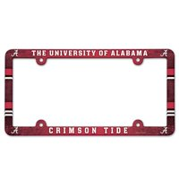 Alabama Crimson Tide Official NCAA 12 inch x 6 inch Plastic License Plate Frame by Wincraft