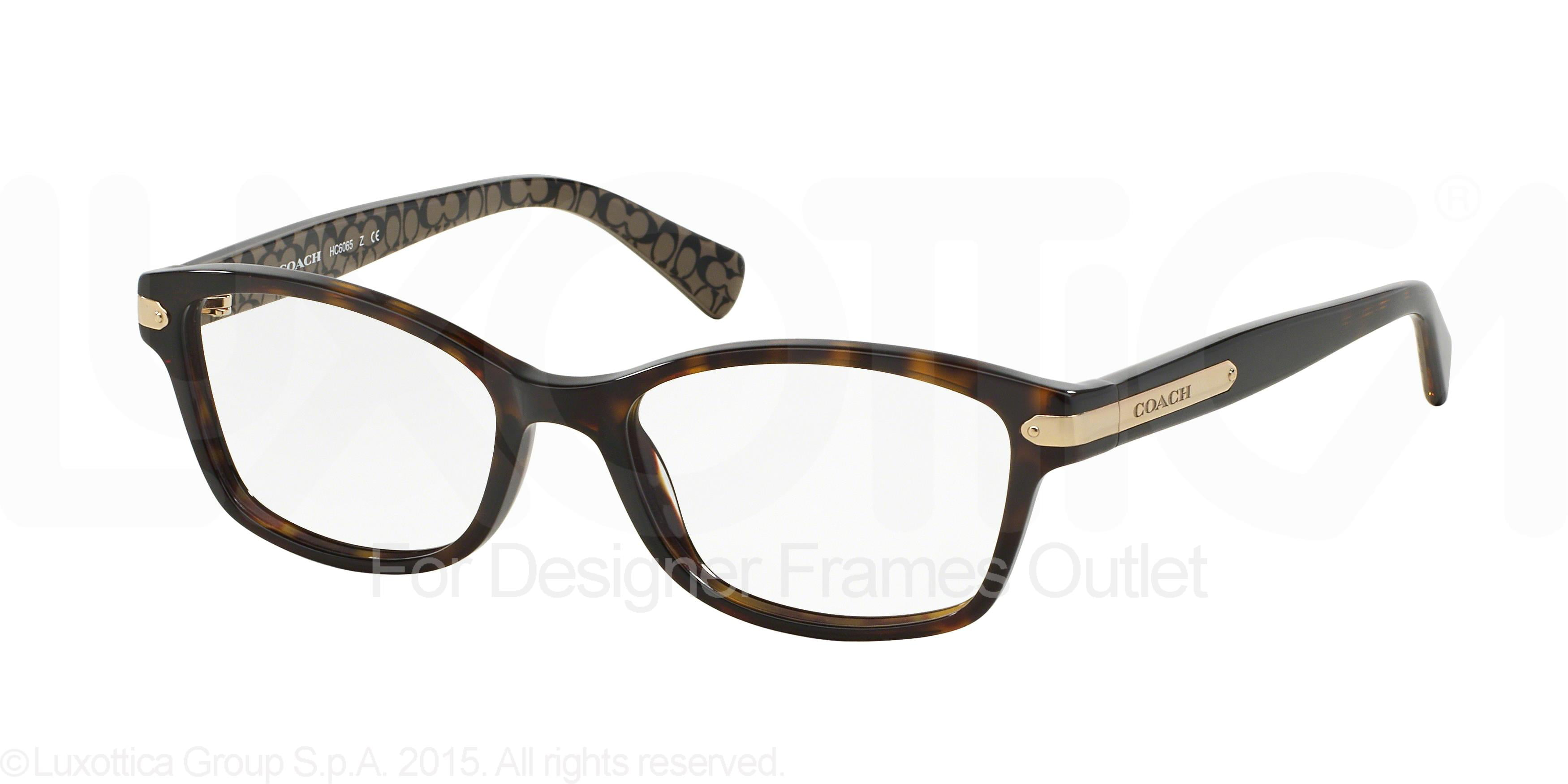 COACH Eyeglasses HC6065 5291 Tortoise/Tortoise Military 51MM ...