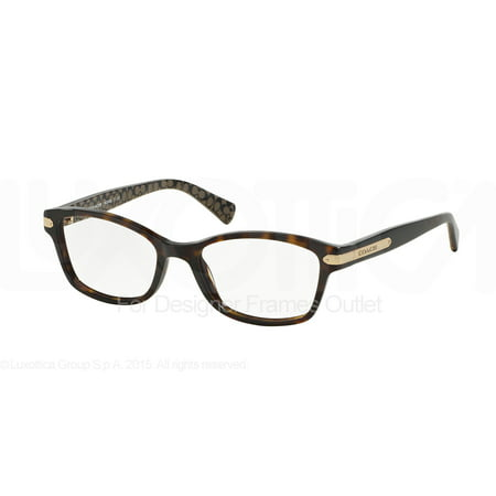 COACH Eyeglasses HC6065 5291 Tortoise/Tortoise Military 51MM - Eyeglasses With Lights