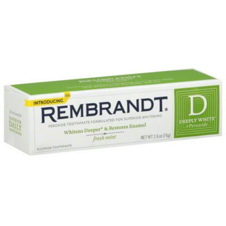 - 3 Pack - Rembrandt Plus Toothpaste Fresh Mint 2.60 oz