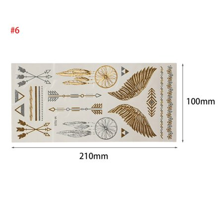 Gold Bronzing Waterproof Wedding Bride Bridesmaids Tattoo Stickers for Temporary Bachelor Party Women Body Wrist Decorations - image 3 of 9