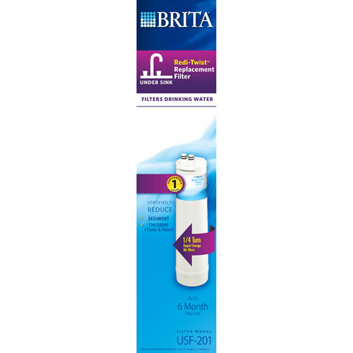 Brita Redi-Twist Under-Sink Replacement Filter, Level 1