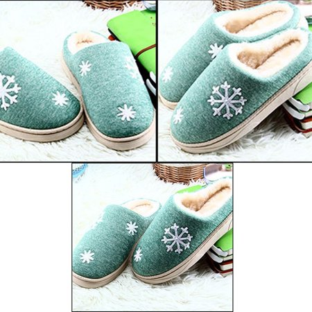 Autumn And Winter Anti-skid Warm Soft Cotton Couple Slippers Plush Indoor Shoe - image 3 of 7