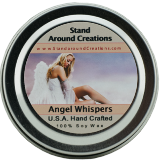 ANGEL WHISPERS TIN 2-OZ. ALL NATURAL SOY CANDLE