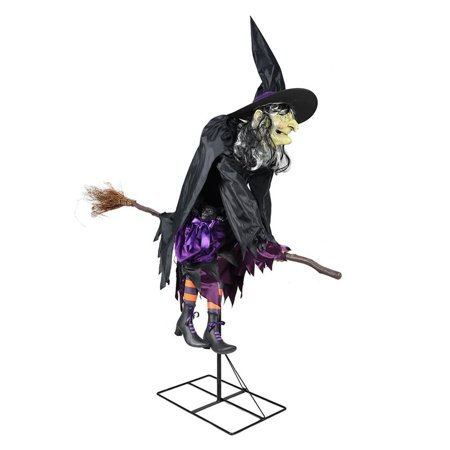 Flying Dutchman Halloween Costume (Home Accents Holiday Halloween Decoration Fancy Flying Witch 72.05 in. H Lights up Eyes Moving Mouth Decor)
