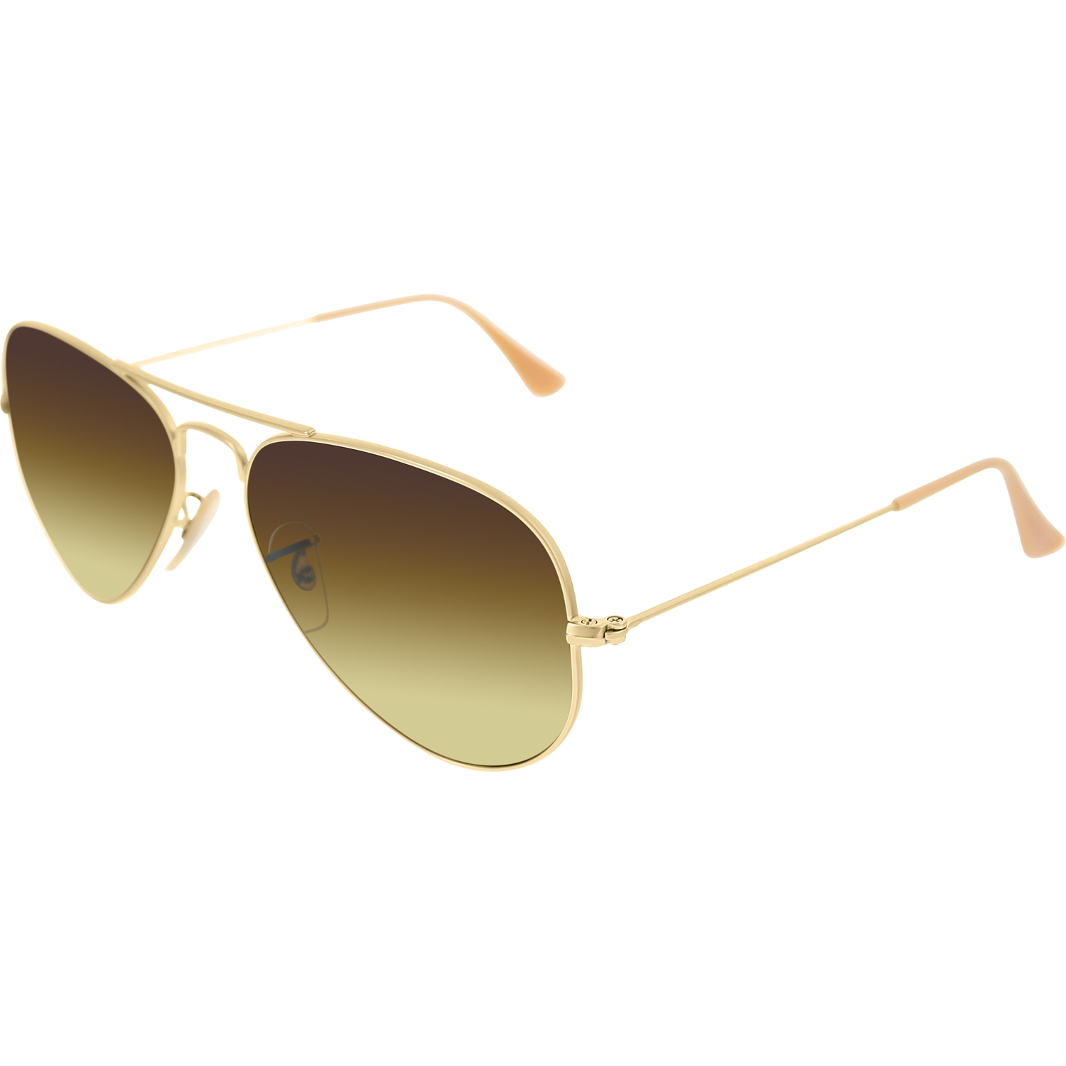 ray ban matte gold aviator  Ray Ban RB 3025 112/85 55mm Matte Gold Brown Gradient Lens Aviator ...